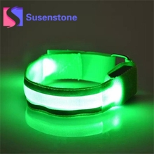 Buy 1 pc Nylon Armbands Night Reflective Wristband LED Bracelet Fashion Unisex Glow Wrist Band Cuff Bracelet Bangle Adults Kids for $1.33 in AliExpress store