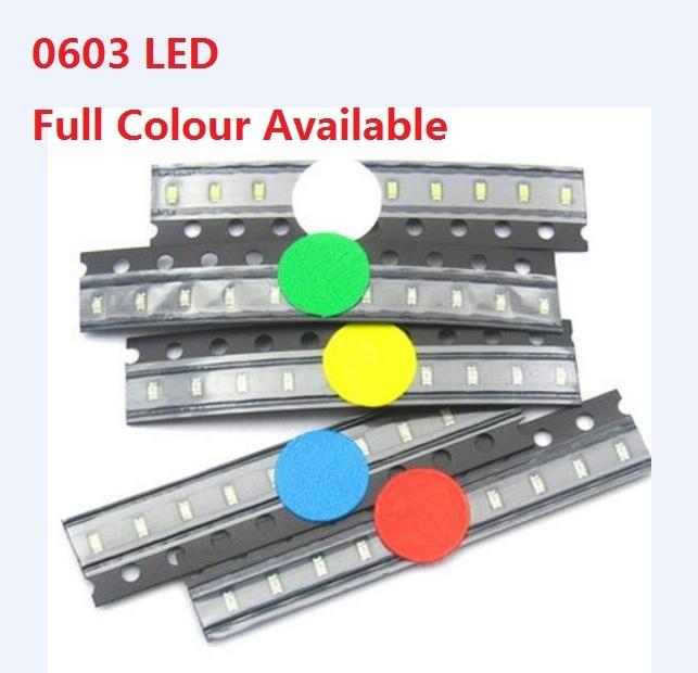4000 pcs one reel SMD SMT 0603 Super bright White LED lamp Bulb HIGH QUALITY