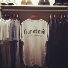 Fear of God Men Women Tees European and American Style Short Sleeve Apricot Man T-Shirts Hip Pop Fashion Kanye West Mens Tops