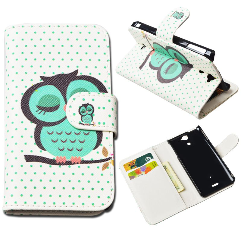 Sony LT22i cases Fashion Printing Picture Magnetic Leather Case cover Sony Xperia P LT22i Case wallet stand