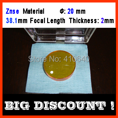 Znse (Supreme material) diameter 20 mm focus distance 38.1 mm thickness 2 mm CO2 laser focus len<br><br>Aliexpress