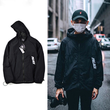 Windbreaker Jacket Brand Clothing Hood Coach Jacket Men New Arrival Bomber Jacket Coat SMC0785-5