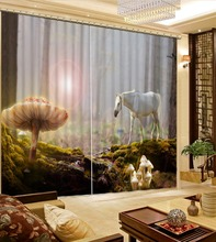 custom luxury curtains for living room european style Magic Forest Maxima 3d blackout curtains for the bedroom