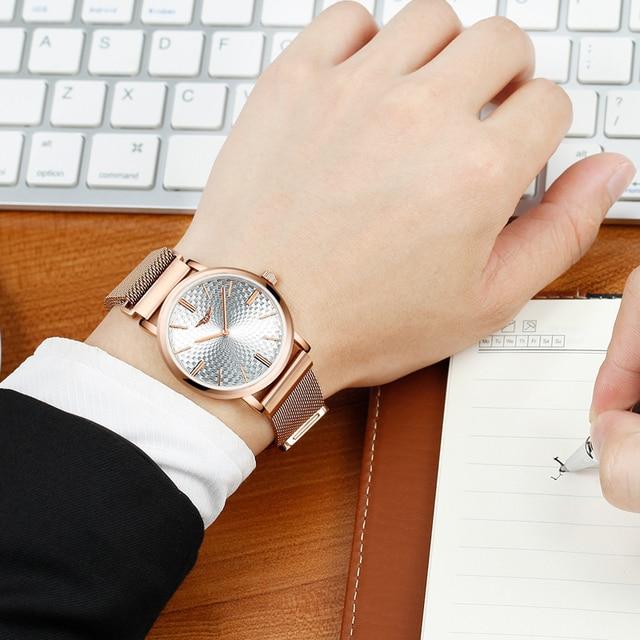 Men's Business Ultra Thin Wristwatch Men's Fashion Gold Stainless Steel Quartz Watch