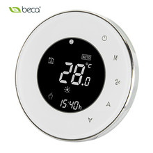 BECA New 95~240VAC Four Pipe Fan Coil HVAC Touch Screen Weekly Programmable Modbus RTU Central Air Conditioning Room Thermostat(China)