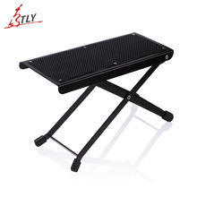 Folding Guitar Pedal Anti-Slip Foot Rest Stand Height Adjustable Metal Footboard for Guitar Drum Cajon Guitar Accessories