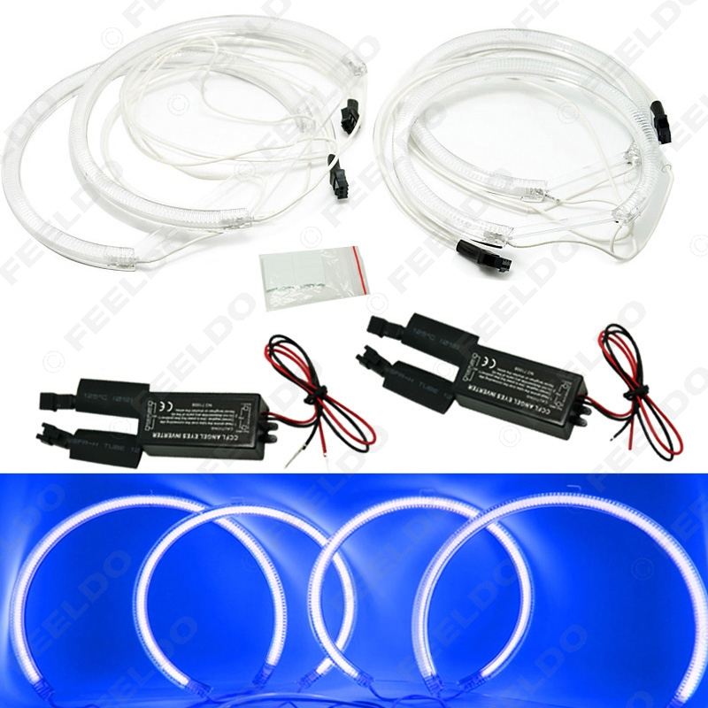 4Pcs/set Blue CCFL LED Angel Eyes headlights for BMW X5(E53)angel eyes kits #FD-3899<br><br>Aliexpress