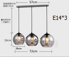 single head or 3 heads Northern American classic simple personality DIY hand blown glass led pendant lamp  restaurant lighting