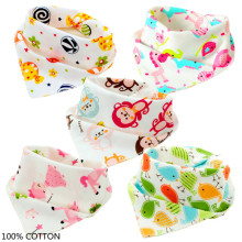 5pcs/lot Scarf Children BABY BIBS Bandana Bibs Baby Bib B9E-R58(China)