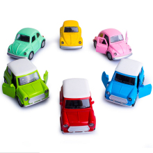 1:43 scale mini diecast Vintage car Volkswagen Beetle mini cooper model alloy pull back toys with sound and light for kids gifts