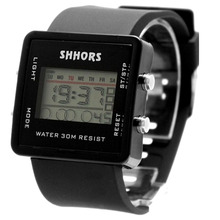 Black Watchcase Alarm BackLight Unisex Discount Golf Trendy Digital Watch DW366A