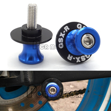 Blue With LOGO 8mm Motorcycle Swingarm Spool Slider For Suzuki GSXR 600 750 1000 1300 SV650 650S High Quality