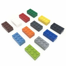 Bulk Brick Parts 2x4 Brick DIY Block Toy Compatible with All other brand Assemble Particles(China)