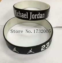 Free Shipping 50 pcs  Popular  Basketball Team  Wristband Silicone Promotion Gift Filled In Color Bracelet  Y-15