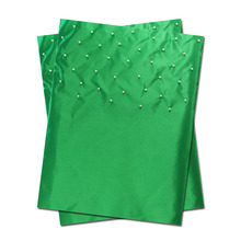 New Fashion African SEGO Headtie,Sego with Beads,Head Gear,,Head Tie & Wrapper, 2piece/bag,B367 Nigeria green