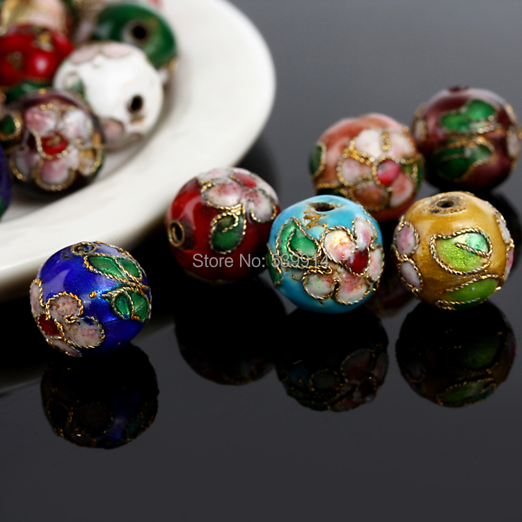 Free 8MM Mixed Assorted Cloisonne Charms Beads Carve Flower Filigree Cloisonne Beads Fit Diy Bead 200pcs/lot