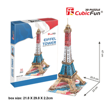 CubicFun DIY Paper Puzzle Toy 3D Cardboard Puzzles Simulation World's Great Architecture Eiffel Tower Model Kids Toys Brinquedos(China)