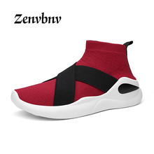 ZENVBNV 2017 Men Casual Shoes loafers Spring Autumn Men Mesh Breathable Flats Knitted Shoes Zapatillas Hombre Fashion Sock Shoes(China)