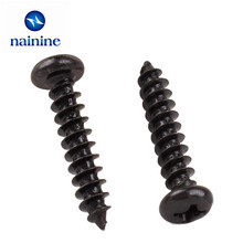 100Pcs M1.0 M1.2 PA Phillips Head Micro Laptop Screws Computer PC Pan Head Self-tapping Electronic Small Wood Screws SS03(China)