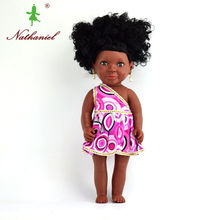 40cm real newborn baby dolls black Doll toys for girls lifelike DIY Christmas Birthday gifts for kids soft safety reborn Doll(China)