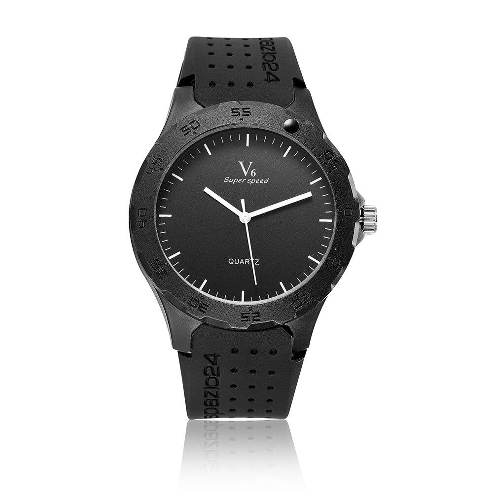 V6 Super Speed Watch luxury Brand Man Silicone Watch Shockproof Waterproof Black Dial White Pointer Fashion Military SportsWatch<br><br>Aliexpress