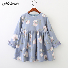 Melario Girls Dresses 2018 Fashion Kids Girls Dress cartoon Long sleeve princess dress fashion kids dresses children's clothing(China)