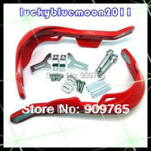Red Wide Fat Bar 7/8'' Motorcycle handguards Bike Hand Clamp 22mm Guards mounting Kit MX ATV Dirt Snowmobile handlebar(China)