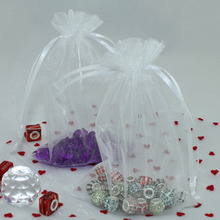 "100 pieces 4""x6"" 10cm x 15cm White Sheer Organza Bag, Organza Pouch - FREE SHIPPING,the best gift for vistor wedding gift bag(China)"