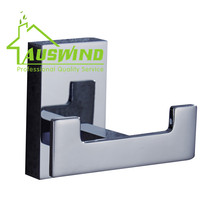 Contemporary Chrome Finished Copper Robe Hook Luxury Polish Hook Hanger Coat Hanger Bathroom Hardware