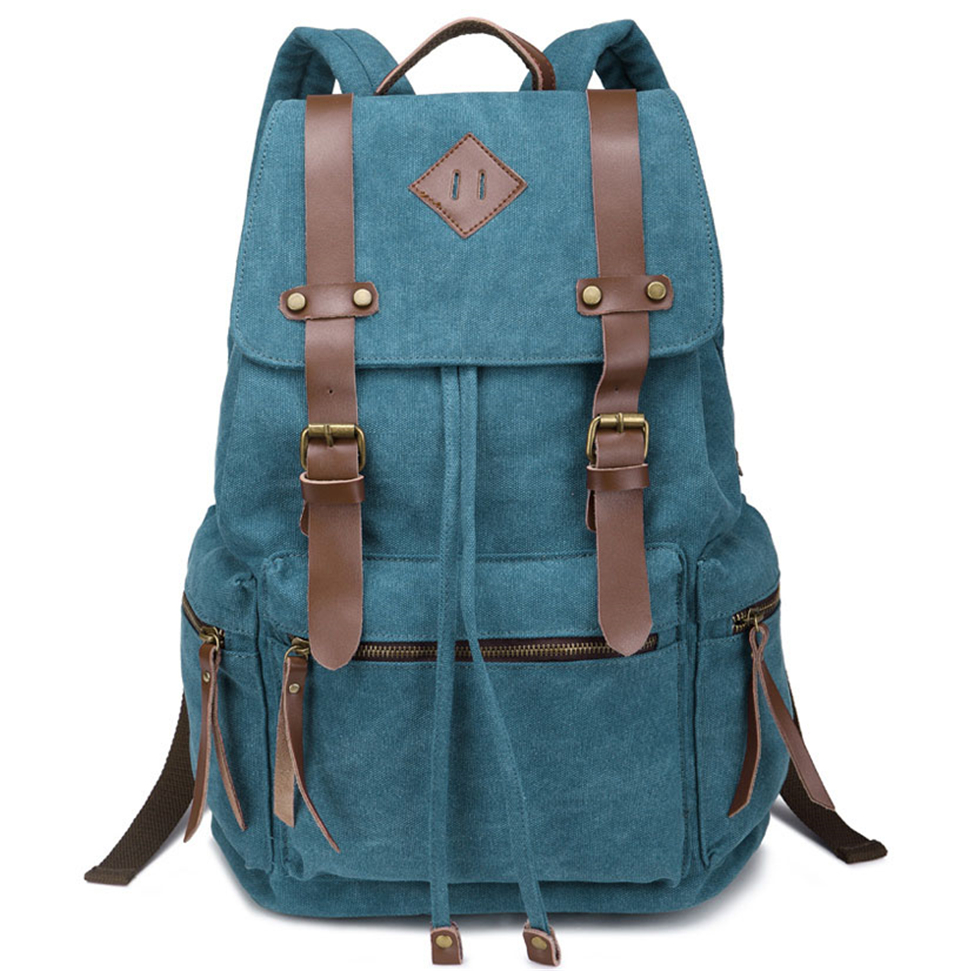 New 2019 Fashion Teen's Backpack Vintage Canvas Women Backpack School Bag Men's Travel Bags adolescence backpack Ladies Girl(China)