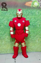 High Quality Carnival Party Iron Man Mascot Costume Adult New Iron Man Mascot Costume Fancy Dress Clothing Halloween Party Suit