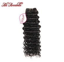 ALI ANNABELLE HAIR Deep Wave Malaysian Hair Weave Bundles Natural Color 100% Remy Human Hair Weave 10-28inch Free Shipping(China)