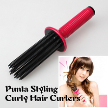 New Red Airy Curl Brush Styler Tool Hair Comb Style DIY Curler Roller Tool DIY Wavy SSwell