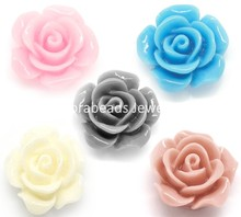 DoreenBeads Mixed Resin Flower Embellishments Jewelry Making Findings 14x6mm, sold per packet of 100 (B17954), yiwu