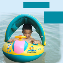 Newest Baby Infant Inflatable Swimming Float Summer Children Kids Safety Swimming Ring Adjustable Car Shape Swim Ring Seat Boat(China)