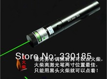 Wholesale high powered & 5000mw 5w 532nm green laser pointers can focus burning matches burn cigarettes+key+charger+gift box