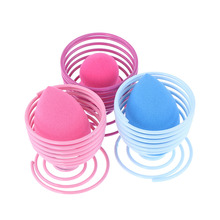 1PC Useful Anti-microbial Flexible Breathable Makeup Cosmetic Powder Puff Dryer Display Stand Sponge Holder Gold/Rose/Red/Blue