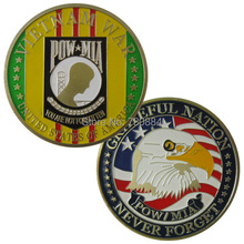 United States Of America Vietnam War POW-MIA 24K GP Challenge coin 1060#