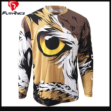 Fury Race Men DH Downhill Jersey Animal Print MTB Bike Roupa Motocross Motorcycle Racing T-Shirt Cycling Jerseys Loose Clothing