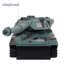Abbyfrank 1:22 RC Tank Battle RC Fighting Toy Tank Model Classic R/C Radio Remote Control Tank 360 Rotation Music LED Toys