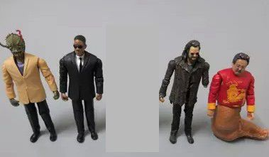 3.75 inch can be moving 1:18 Men in Black Agent J doll ornaments s for collection figure toy 4pcs/set<br>