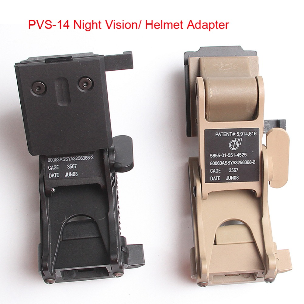 Helmet adapter PVS14 night vision mount helmet PVS-14 PVS-7 Night Vision Goggle NVG Helmet Rhino Arm Mount Airsoft HT2-0018<br><br>Aliexpress
