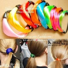 free shipping fashion wig headband elastic hair rope rubber band neon color hair accessories HOT colorful multilayer hair ropes