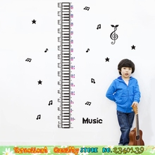 Child Height Measure Chart Wall Sticker Musical Note Keyboard Growth Measuring Chart Wall Stickers Nursery Kids Room Decorations