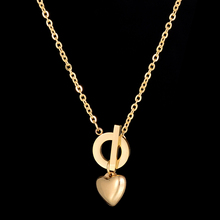 Special Offer Promotion Never Fade Love Heart Pendant Necklaces 316L Stainless Steel Charm Necklace For Gift