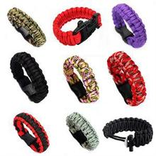 1PC Unisex Self-rescue Parachute Cord Paracord Bracelet Outdoor Camping Emergency Escape Rope Buckle Travel Survival Tool Kit(China)