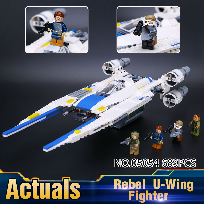 2017 New LEPIN 05054 679Pcs Star Wars The Rebel U-Wing Fighter Model Building Kits Blocks Bricks Toys Gift With 75155<br><br>Aliexpress