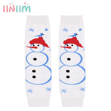 0-24 Months Carton Unisex Infant Baby Boys Girls Christmas Cotton Leg Warmers for Winter with Holiday Dresses and Rompers(China)