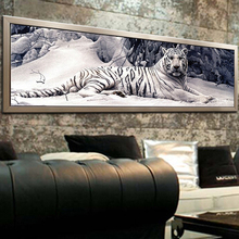 5d diy diamond painting chinese cross stitch tiger picture mosaic kit diamond embroidery hobbies and crafts needlework 8132(China)
