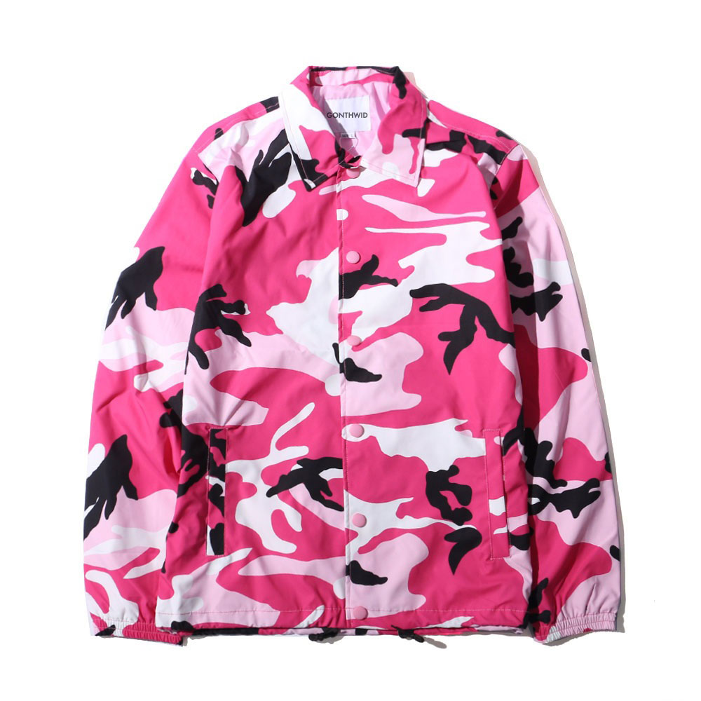 Color Camo Windbreaker Coaches Jackets 1